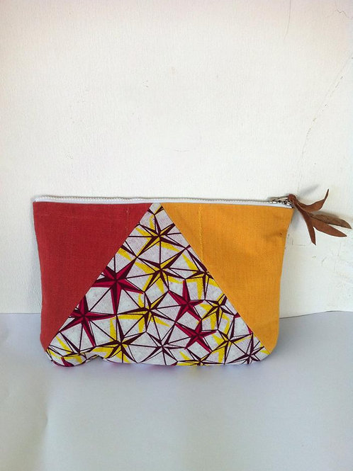 African Youth Apparel - wallet bag - Red & Yellow Start