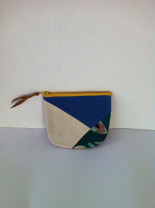 African Youth Apparel - wallet bag - Blue & Cream