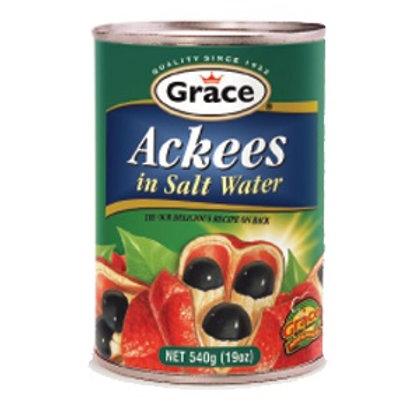 Grace Ackee in salt water