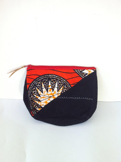 African Youth Apparel - wallet bag - RedBlack Star