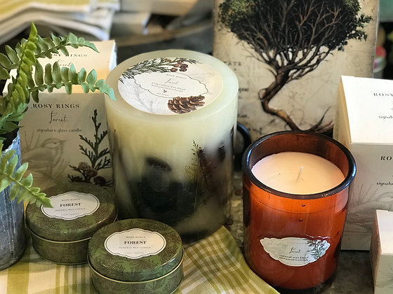Rosy Rings Forest Candles
