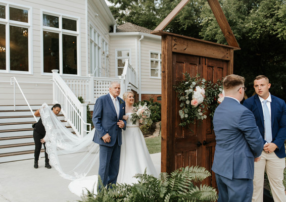 The entrance of the bride.
