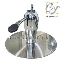 Base hidraulica redonda de acero - con b