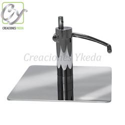 Base hidraulica cuadrada de acero