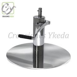Base hidraulica redonda de acero