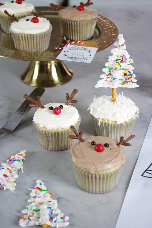 Festive cupcake kit bundle