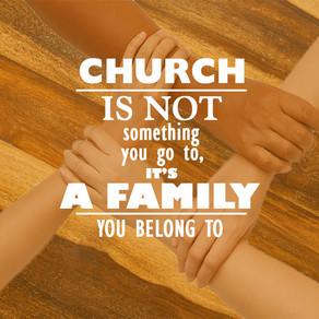 교회는 믿음의 가족이 모인 곳입니다.