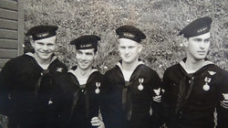 Pat's enlisted crew after award ceremony