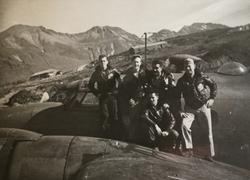 Michelotti and squadron mates on the PV-1 wing, Attu