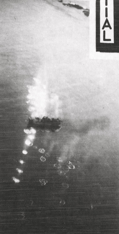 Japanese vessel strafing