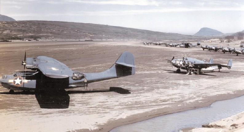 PBY-5A and PV-1 Adak 1943