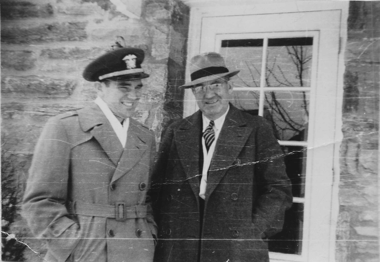 Ray Langton Jr. with his cousin Robert M. Emberger.
