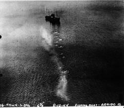 VB-136 8/12/44 Araido boat strafing