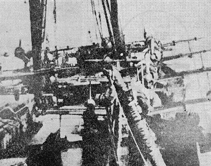 Float fighters on Kimikawa-maru near Paramushir island in end of 1942.