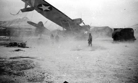 VP-43 PBY damaged after the storm. Dutch Harbor Nov 1943