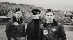John Gardner (Rumford's co-pilot), Chas. Stepter (English's co-pilot), and Jim Rumford