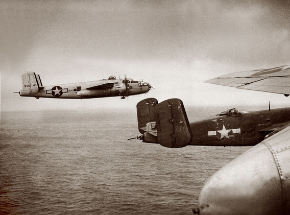 B-25-Formation, 77 BS