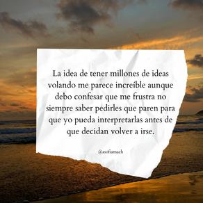 El miedo a tener o no tener ideas