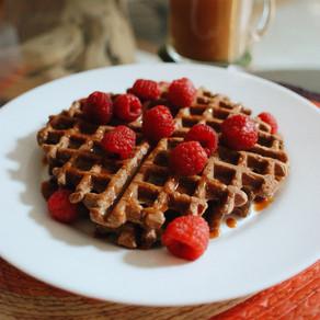 Waffles de Chocolate y Plátano 🍫🍌