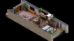 isometria casa 3 PB