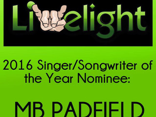Nominated for 2016 Singer/Songwriter of The Year