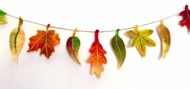 Felted Autumn Bunting