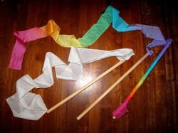 Rainbow Streamer Wands Workshop