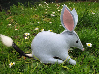 Bilby craft kit for your Easter nature table.