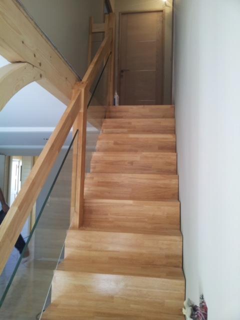 Escalier hévéa