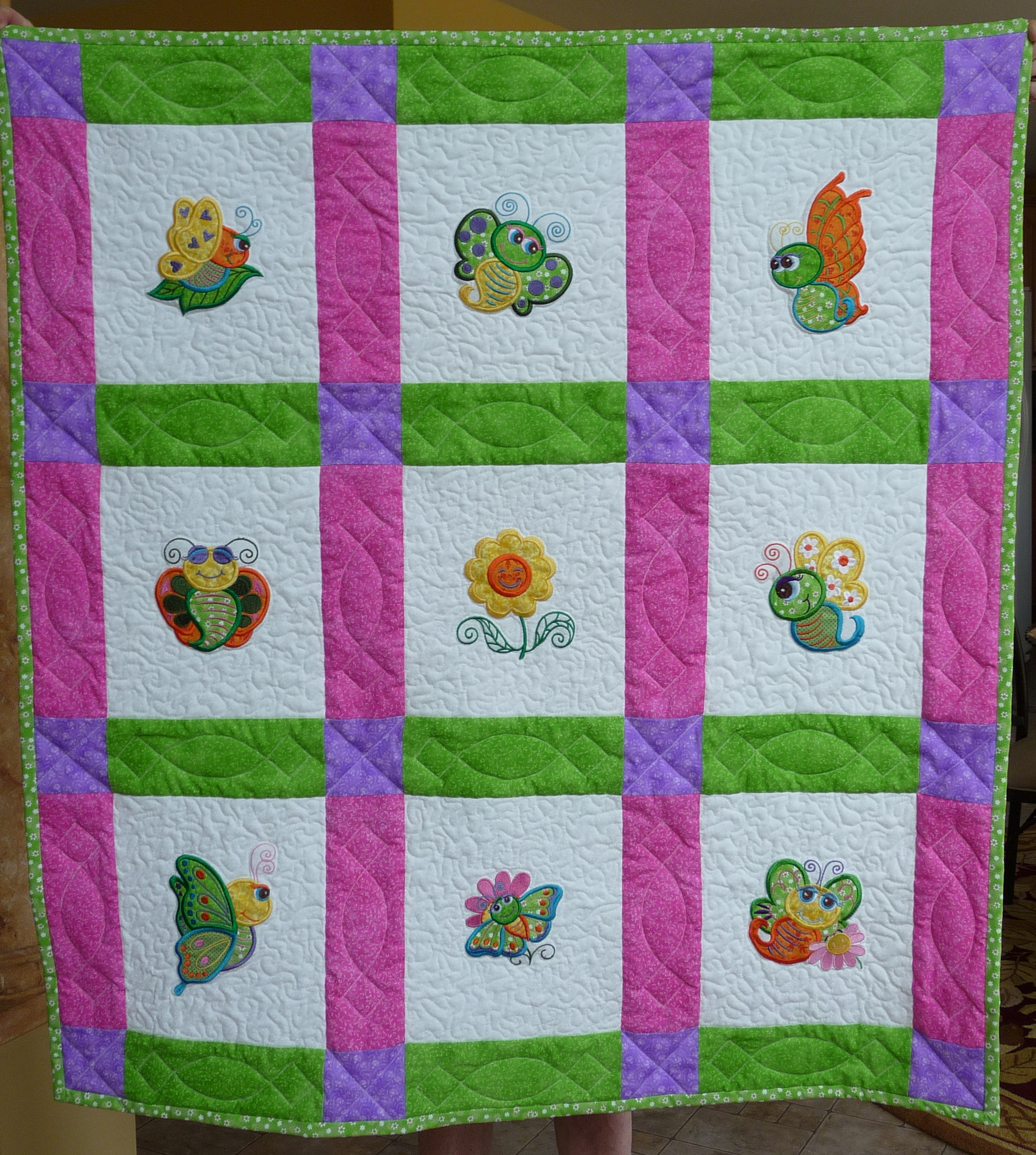 Butterfly Baby Quilt 1