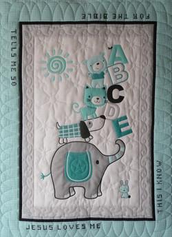Baby Quilt Panel 1