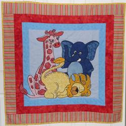 Jungle Babies Quilt 46x46
