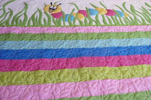 Happy Caterpillar Crib Quilt