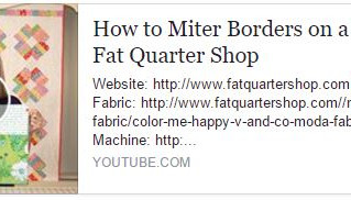 How to Miter Borders on Quilts