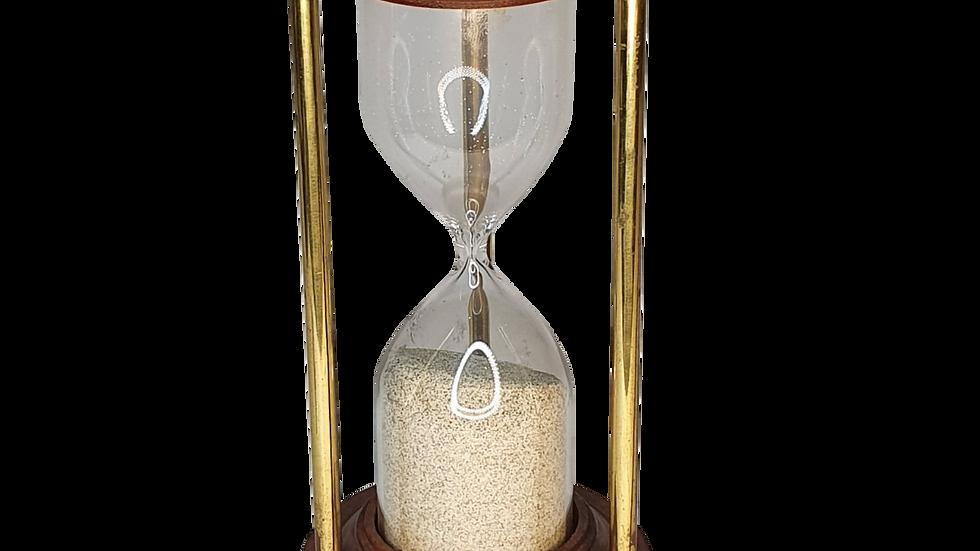 Wood & Gold Hourglass
