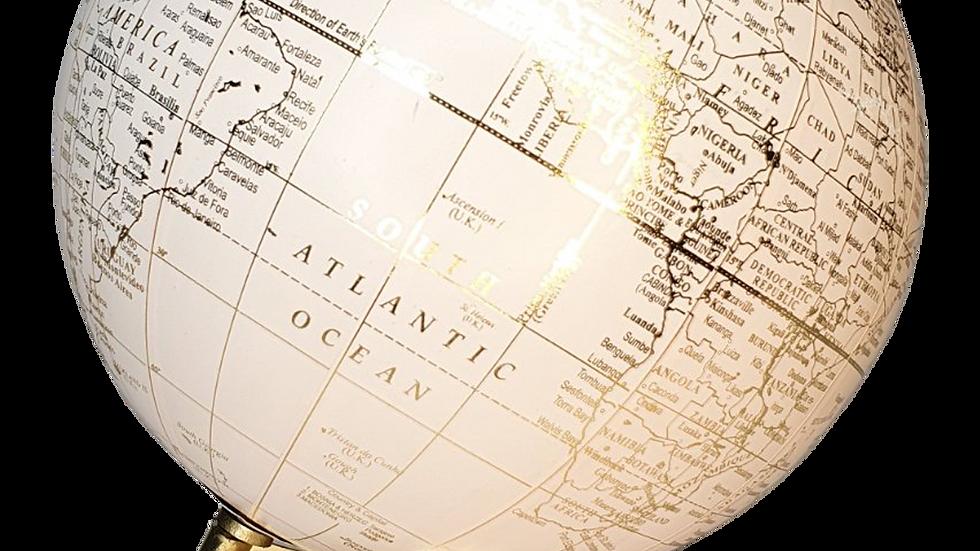 Cream Gold Globe