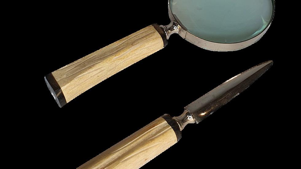 Magnifying Glass &Letter Opener Set