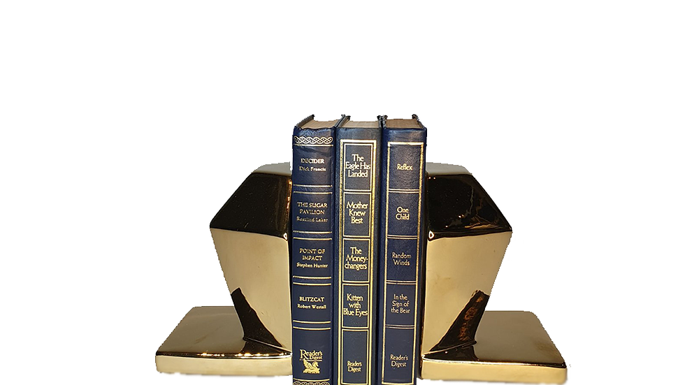 Faceted Gold Bookends