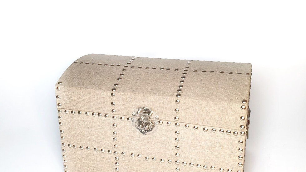 Linen Decorative Chest (Set of 2)