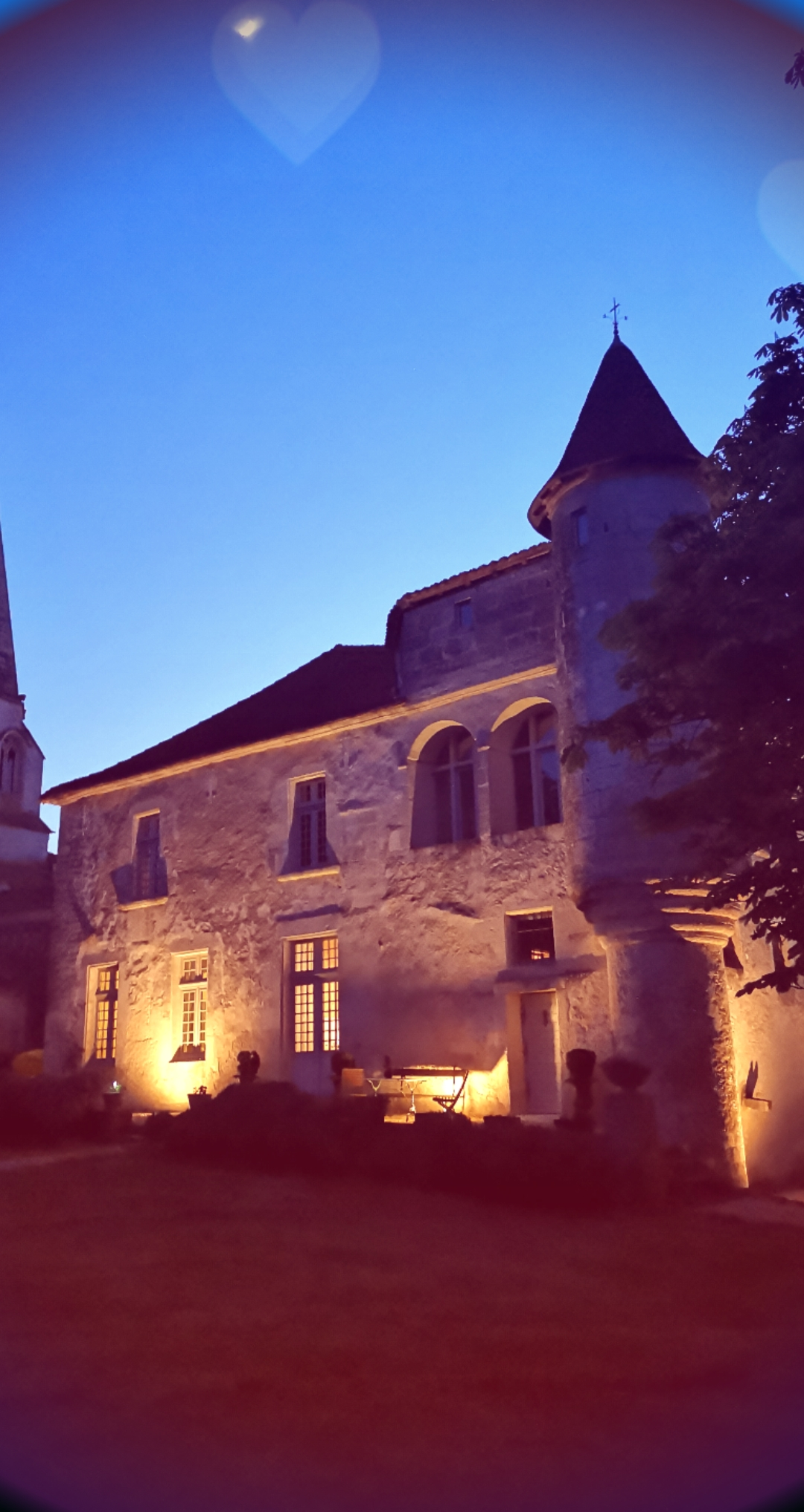 Chateau de Charmant de nuit