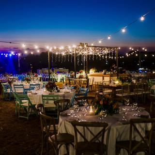 Open field romantic wedding