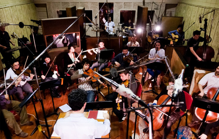 Les mentettes orchestra CD recording @ION
