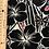 Thumbnail: Black Hibiscus Marimekko-like Hawaiian Fabric| Black