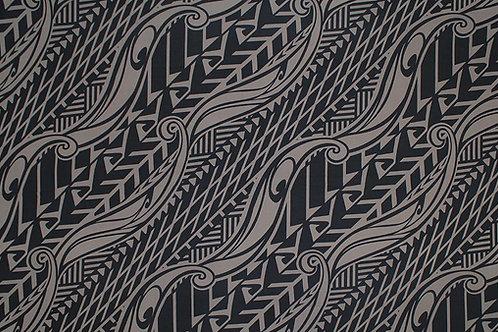 Tapa Hawaiian Print Knit Jersey   Taupe Brown