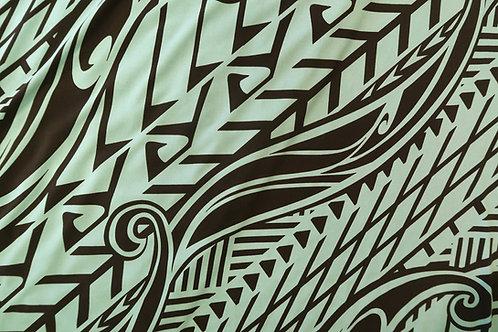 Tapa Hawaiian Print Knit Jersey | Blue