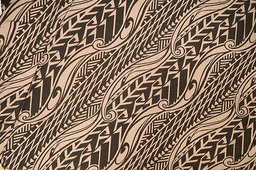 Tapa Hawaiian Print Knit Jersey | Beige