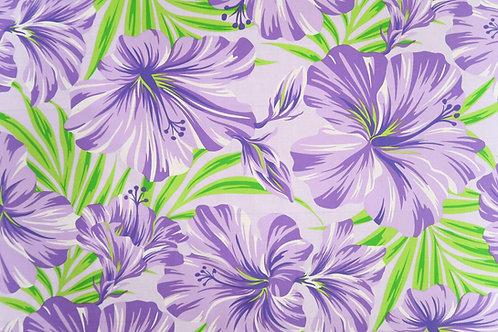 Purple Hibiscus Print Fabric
