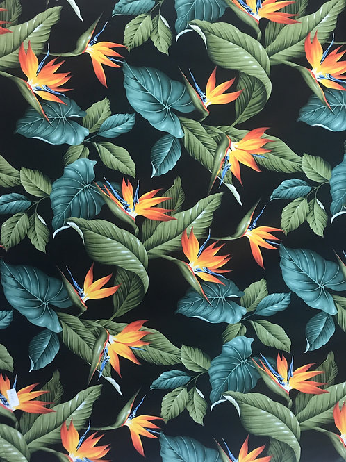 Birds of Paradise Black Fabric
