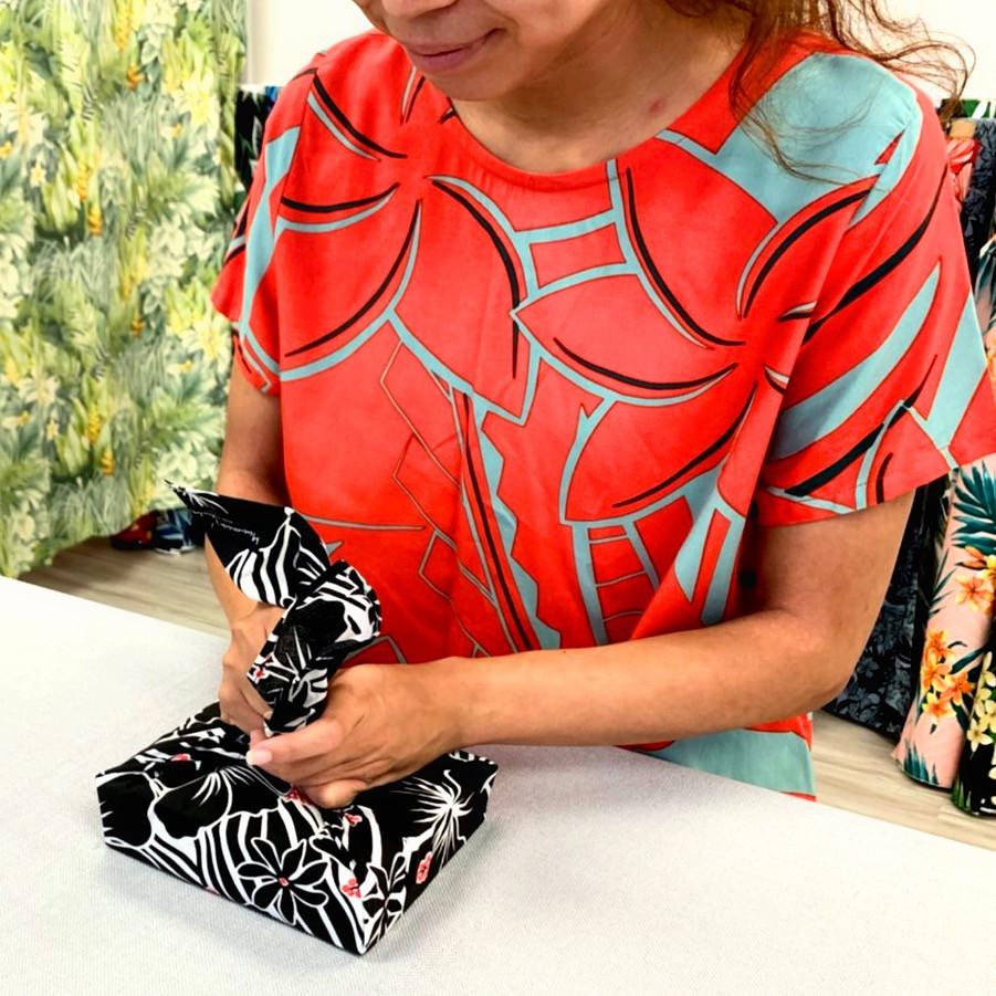 Furoshiki, Lunch Box, Wrapping Idea