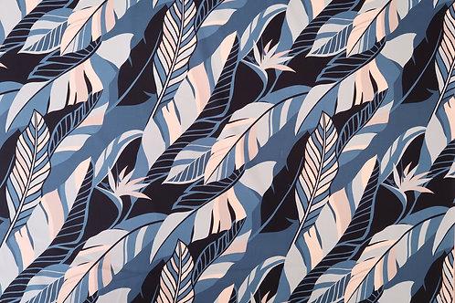 Modern Leaf Blue Hawaiian Design | Blue